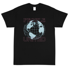 People T-Shirt (Pink/Blue Graphic)