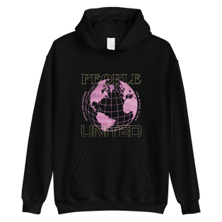 People Hoodie (Yellow/Pink Graphic)